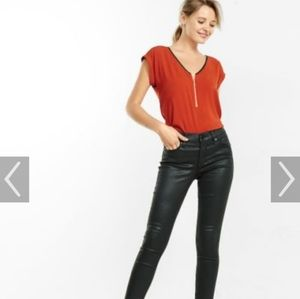 Express Lace Gramercy Top with Zipper